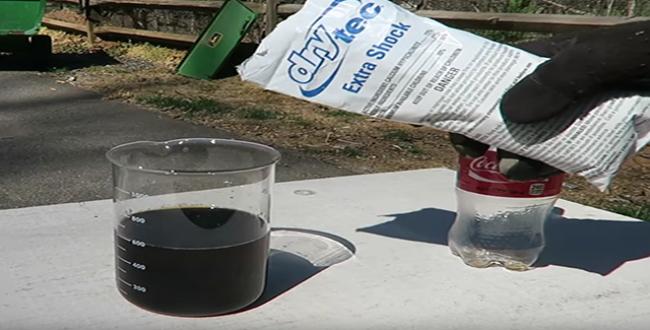 Esto es lo que pasa cuando se mezcla coca cola con cloro for Piscina de coca