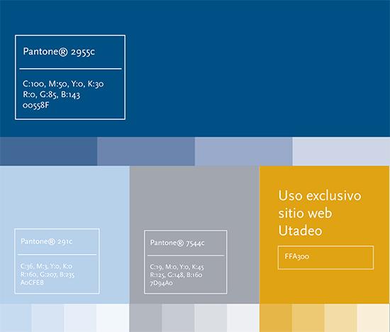 Elementos graficos. Paleta de colores | Universidad de