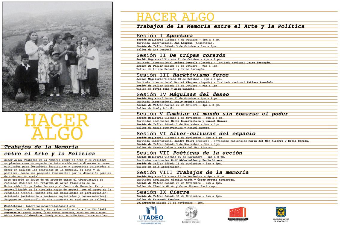 Hacer Algo: Trabajos de la Memoria entre el Arte y la Política [2013 ...