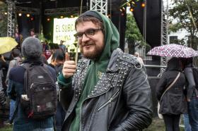 Rock, Latinjazz, Funk y Cumbia fueron algunos de los ritmos que se tomaron Utadeo en el concierto. En la foto: Daniel Oviedo.