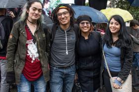 ¿Fin de semestre? ¡Celebremos entre amigos! Foto: Gerardo Martínez, Leidy Rodríguez, Ángela González, de Diseño Gráfico y Cármen Córdoba de Diseño Interactivo.