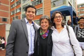 Andrés Prieto, Alicia Llorente y Adriana Botero