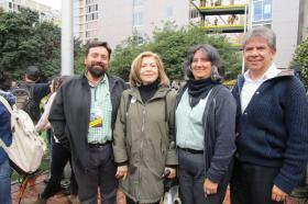 David España, Pastora Correa, Liliana Álvarez y Ricardo Mejía