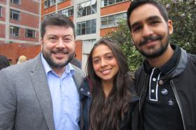 Javier Jímenez, Daniela Ríos y Santiago Rubiano