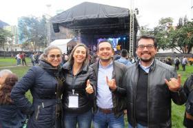 Margarita Rosa Jaimes, Carolina Guzmán, Carlos Rincón y Nelson Chaparro