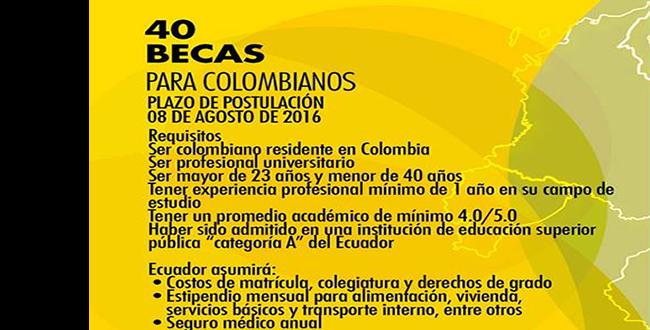 40 Becas Para Colombianos Que Quieran Realizar Estudios En Ecuador Universidad De Bogot Jorge