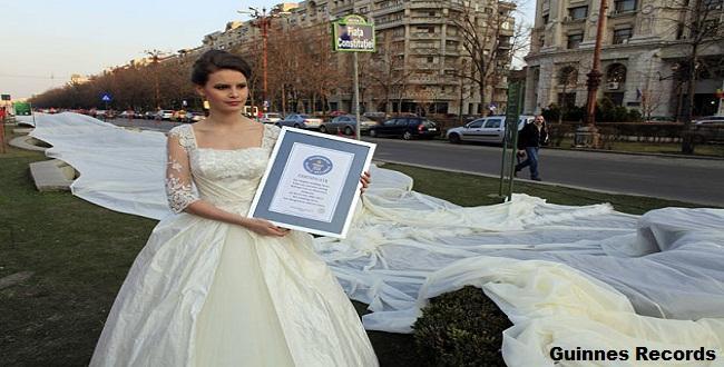 El vestido de novia más largo del mundo. ¿Y si usted se casa le ...
